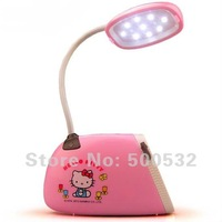 Free shipping 2014 Hot sale Hello Kitty bag design night light Kids bed room LED light Charging desk lamp Novelty light gifts