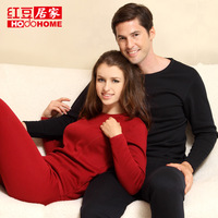 High-cost efficient Long Johns set Men Women's wool bamboo thickening lovers Thermal undergarments set