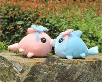 Free Shipping !Hot Selling 25cm 2Pcs/Lot  Lovers Kiss Fishes  Plush Toys Dolls Valentine's Day /Christmas Gift  Home Decoration