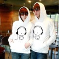 Christmas Promotion Freeshiping Winter cute couple hoodies sweatercoat     lovers  preppy  fashion casual brushed thin   hood