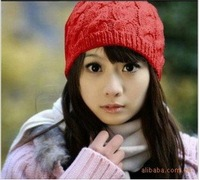 [Vic] 10pes/lot women's Ribbed Beanie Keep warm hat skull cap ski knit  #MZ016, Free shipping
