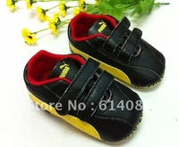 Free shipping wholesale 2012 fashion black upper red edge colorway basketball shoes style prewalkers/infant shoes