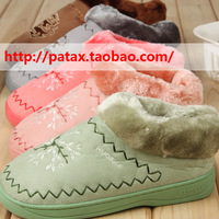 3 ! cotton-padded slippers household shoes at home slippers lovers national trend package with