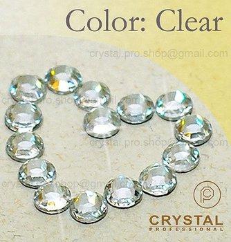 144 pcs ss6 Crystal Clear 2mm wholesale bulk 1 gross glass 6ss hot fix iron on Loose bead stone FLATBACK hotfix rhinestone