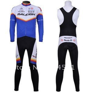 2011 Relei Winter Thermal Fleece Long Sleeve Cycling Jersey + BIB Pants Set /Sport Wear/Bike Suits/Sport Cloth/Bicycle Clothing(China (Mainland))