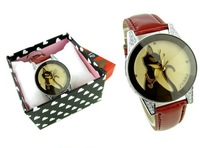 Black cat lady's fashion watch,wrist quartz watch,Crystal glass surface,original band, Free Shipping with Exquisite packaging