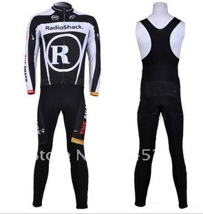 2011 Winter Thermal Fleece Long Sleeve Cycling Jersey + BIB Pants Set /Bike Suits/Sport Cloth/Sport Wear/Bicycle Clothing L103(China (Mainland))