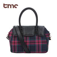 2013  TMC Fashion Women's Panda bag Satchel Tote Shoulder Cross Messenger Bag Scottish plaid  YL194