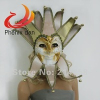 Free Shipping Party Masks Feather Masks Venice Halloween Masks Color White FM1356