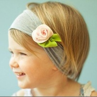 Free shipping, 10pcs/lot cute baby flower headbands infant cotton hair band / baby cotton head scarf / baby headwear / headdress