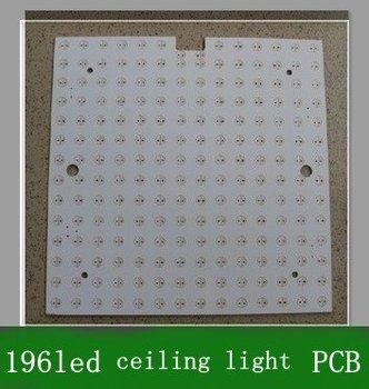 10pcs 196 led square Printed Circuit Board LED PCB lamp panel for LED ceiling lamps 150mm Free shipping