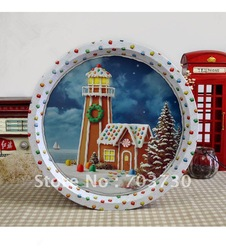 Coupon Deal High Quality Tin Plate With Perfect Painting For Christmas Decoration,Gift,Wall Ornament,Table Setting Free Shipping(China (Mainland))