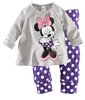 Children Girl Sleepwear Baby Pajamas 6sets/lot Free Shipping