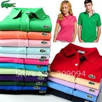 Free shipping!2012 fashion menswear summer new polo shirts , short-sleeved polo casual shirt female 12 colors
