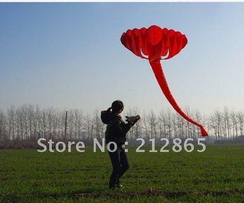 Free Shipping! 3.8 m single Line Stunt The elephant POWER Sport Kite