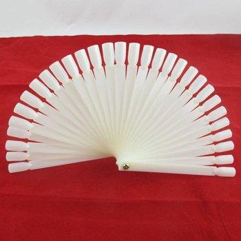 Freeshipping-50 tips Fan-Shaped Nail Art Display Natural Chart for Polish Color UV Gel Display Tool Wholesale, 2sets/lot