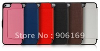 WHOLESALE TEXTURED LEATHER WALLET DESIGN PROTECTIVE CASE COVER FOR APPLE iPHONE 5 MIX THE COLORS 10PCS/LOT