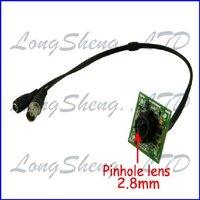 1/4'' Sharp 420TVL Color CCD Board PCB 2.8mm Security Pinhole Camera 5pcs/Lot