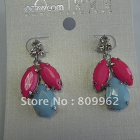 NEW Crystal 12pcs/lot  stud earring Fashin  Earrings make with Austira acrylic water drop earring hotsale