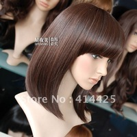 Qi bangs hair long bobo short hair wig elegant girls sassoon natural 6550