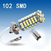 10pcs  H3 102 SMD Pure White FOG Running Signal Car 102 LED Head Light Bulb Lamp