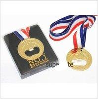 Free shiping new Creative NO.1 Winner Golden Medal Bottle Opener,Unique champion Bottle opener