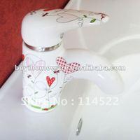 Heart patern porcelain faucet tap water tap faucet mixer 24sets/lot wholesale&retail shipping discount 7101AX