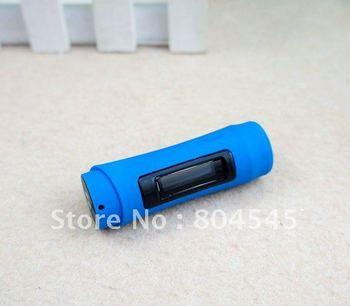 "8GB 8G 1.0"" LCD Screen Waterproof FM Radio Swimming Sports MP3 Player Blue C22"