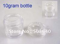 10 Gram Empty Nail Case 100pcs/lot Nail Art Glitter Dust Powder Empty Box Whole Sale Clear Pots Bottle Container Jar 404