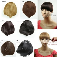 Best Selling ! 1Pcs/Lot New  Hair Bangs Fringe For  Lady's Mixed Color  Bang  Free Shipping
