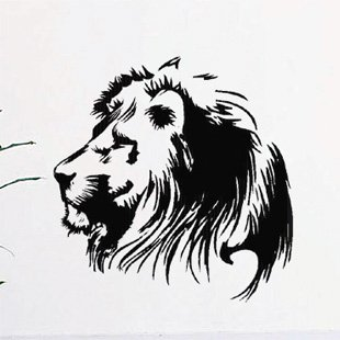 Free Shipping Wholesale Wall stickers Home Garden Wall Decor Vinyl Removable Art Mural Home decor Lion S-64(China (Mainland))