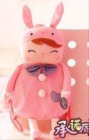 Free shipping Plush toy doll cartoon doll children's backpack 23*28cm 10 pcs/lot  plush school bags