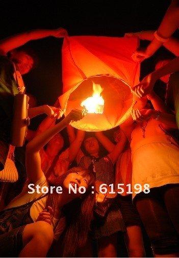10 pcs/lot Wishing Lantern fire balloon Chinese kongming lantern/Sky lantern sky candles free shipping Sky Lanterns(China (Mainland))