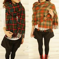 new style tassel Knitting long thicken Taste of Scotland scarf Christmas gift