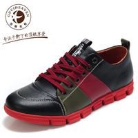 Goodge family male  british style color block decoration skateboarding  trend low-top sbreathable casual shoes5689