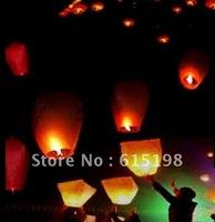 EMS 50 pcs/lot Sky Lanterns Wishing Lantern fire balloon Chikongming lantern/Sky lantern sky candles factory outlets price