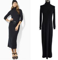Free shipping+ 2012 fashion turtleneck long-sleeve dress slim full dress autumn and winter all-match basic