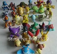 100pcs/lot  Pokemon Action Figures Toys Action Figure Capsule Toys 6-7cm Free Shipping