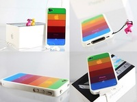 New For  iphone4s cell phone cell phone silica gel set of rainbow phone sets shell