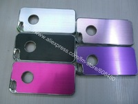 1000pcs/lot Multi Color Luxury Brushed Metal Aluminum Chrome Hard Case Cover  For iPhone 5 5G 6th