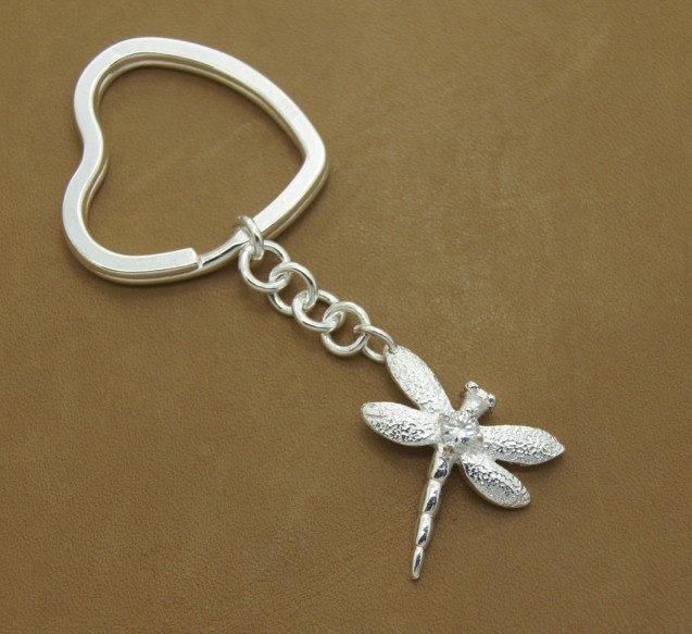KC45 /2012 new arrival key ring Free shipping Keychain fashion 925 sterling silver key chain , fashion jewelry(China (Mainland))