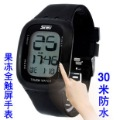 free shipping Fashion table sports watch jelly table child watch led electronic watch touch screen table