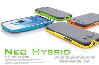 MOQ:1pcs, Lowest Price Bumblebee SGP NEO Hybrid Series TPU Case For Samsung Galaxy S3 SIII i9300 ,HK/China Free Shipping,B0055