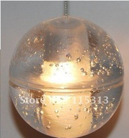 "1 LIGHT CONTEMPORARY CLEAR CAST GLASS BALL ""METEOR SHOWER"" CHANDELIER WITH POLISHED CHROME CANOPY (BULBS INCLUDED)"