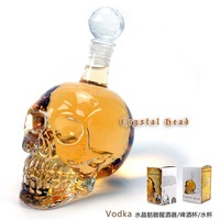 Wholesale----2pcs/lot. New Arrivaled  HUMAN SKELETON CRYSTAL HEAD  Wine Glass Cup Bombs Away Shot Glasses. Free Shipping!!!