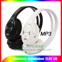 Wireless flash MP3 Player +3.5 mm Earphone Headphone with fm free shipping(China (Mainland))