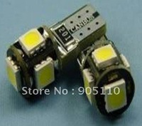 Can-bus Car Led lights,DC12V input, 5pcs 5050SMD LED,Resistance drive,Free shipping