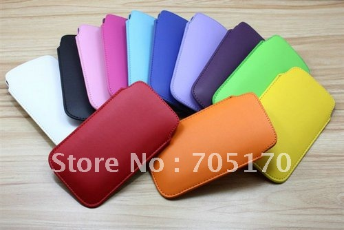 free shipping,for iPhone5G Leather Pouch,Pull Tab Slim PU Leather Pouch Pocket Bag Cover Case for iPhone 5 5s,200pieces/lot(China (Mainland))