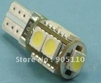 Can-bus Car Led lights,DC12V input, 9pcs 5050SMD LED,No-polarity,Free shipping