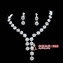 Bride chain sets rhinestone necklace the bride accessories marriage jewelry